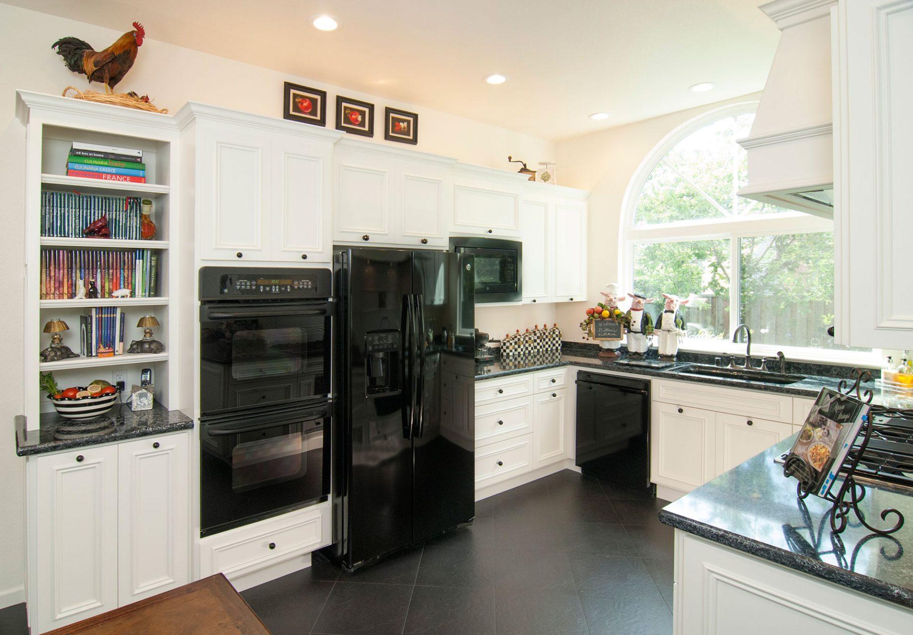 Kitchen On Pleasanton Pleasanton Black White Kitchen Remodel Grci Gallery