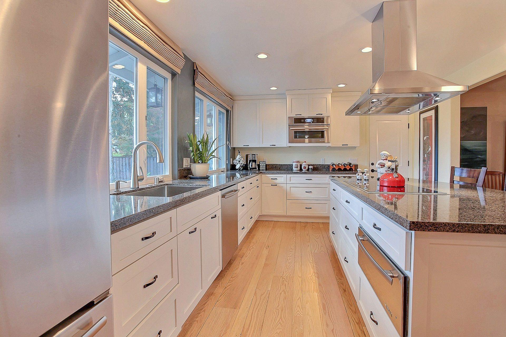 hard wood kitchen floor