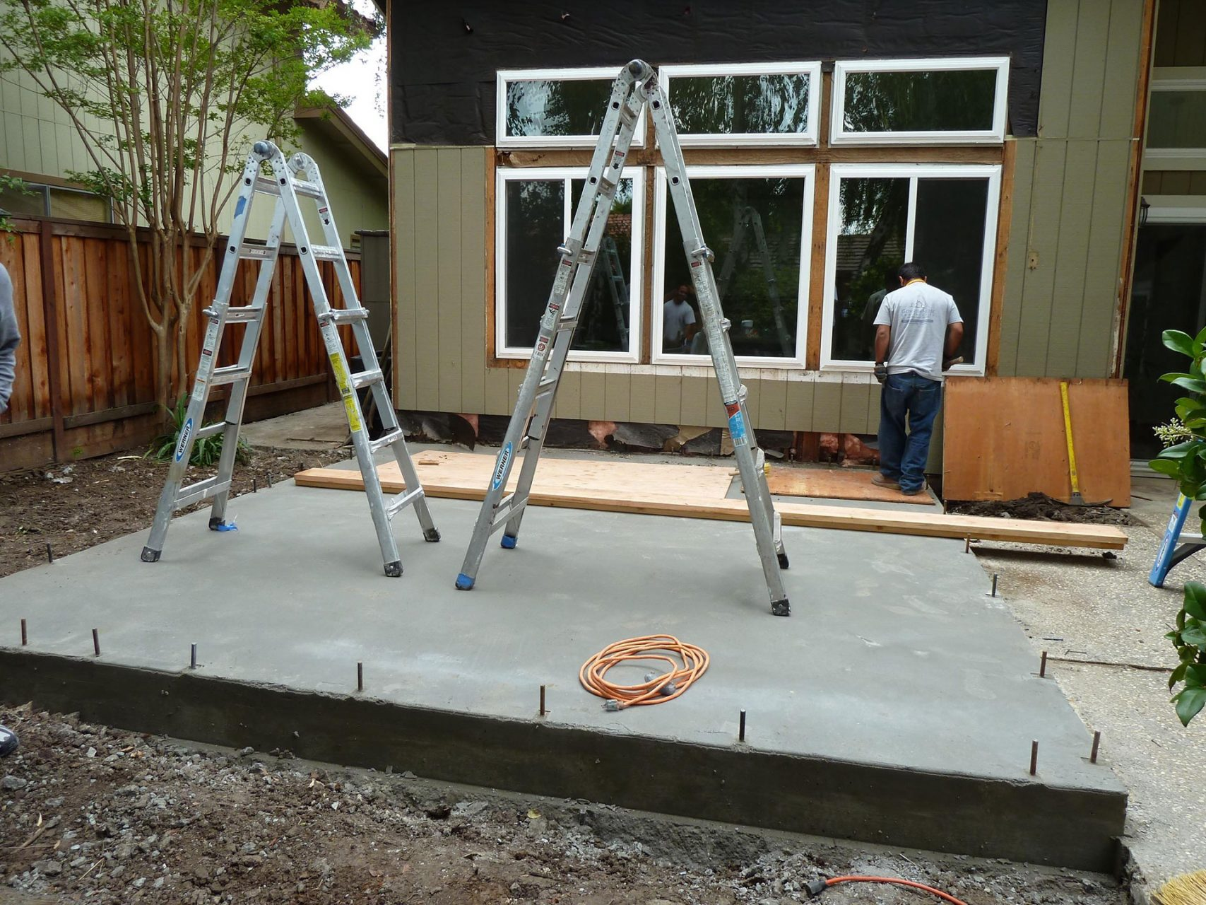 during addition renovation