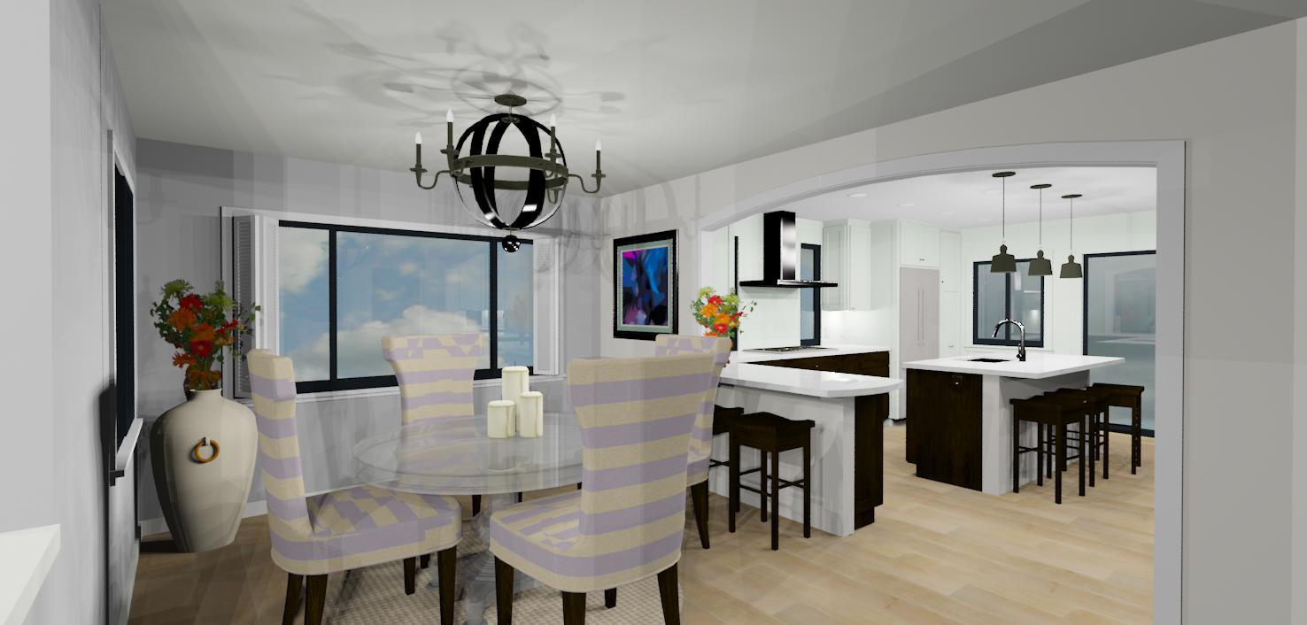 open kitchen 3d design