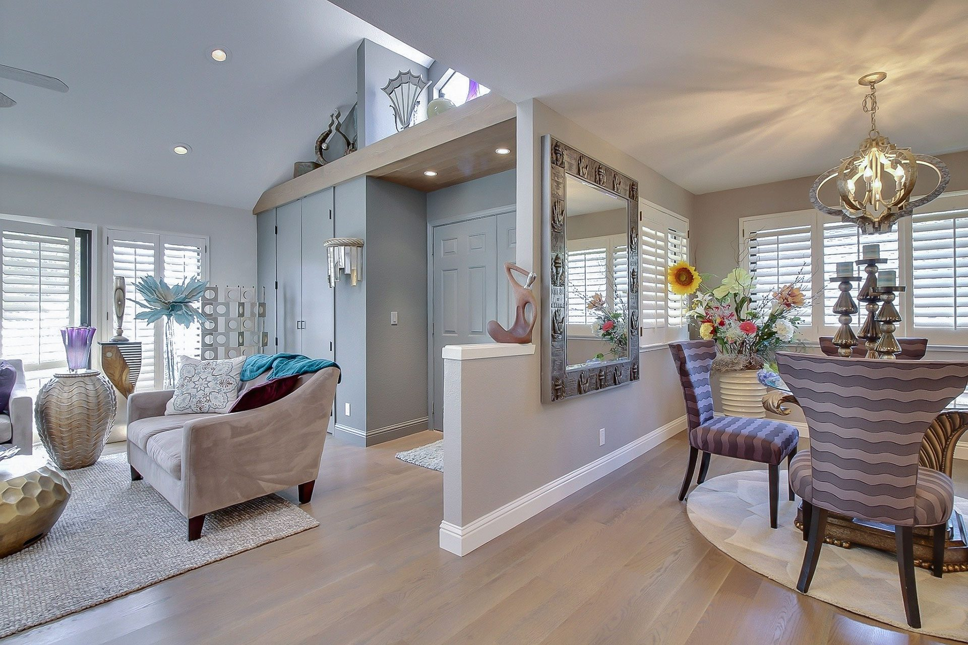open layout dining room