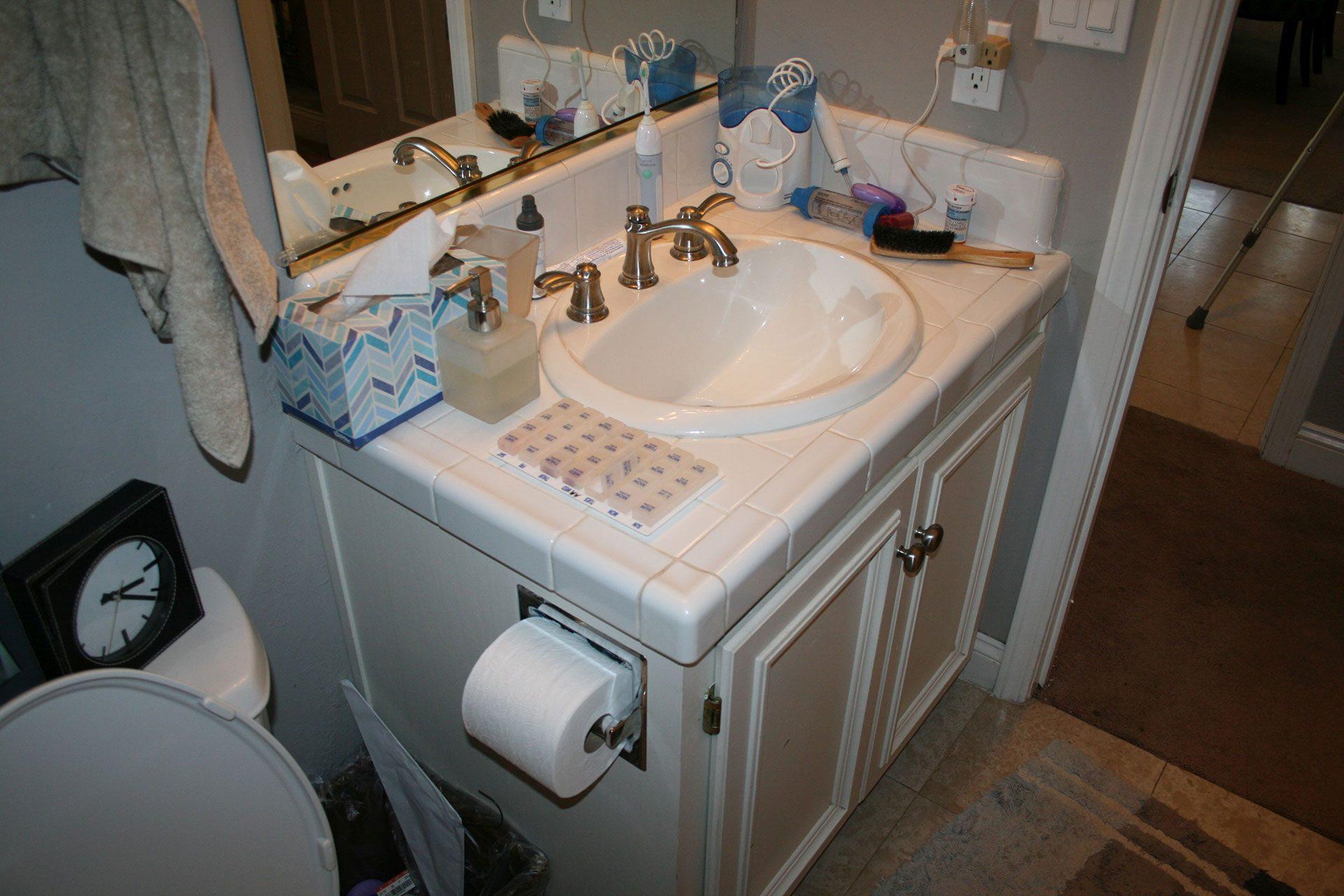 bathroom counter top