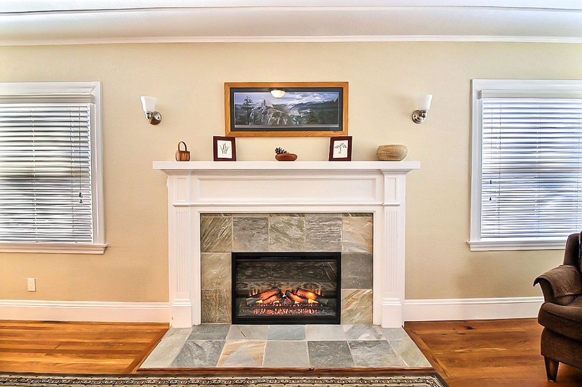 natural color fireplace