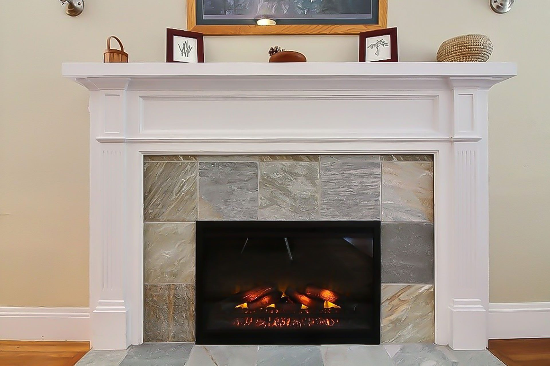 upgraded fireplace