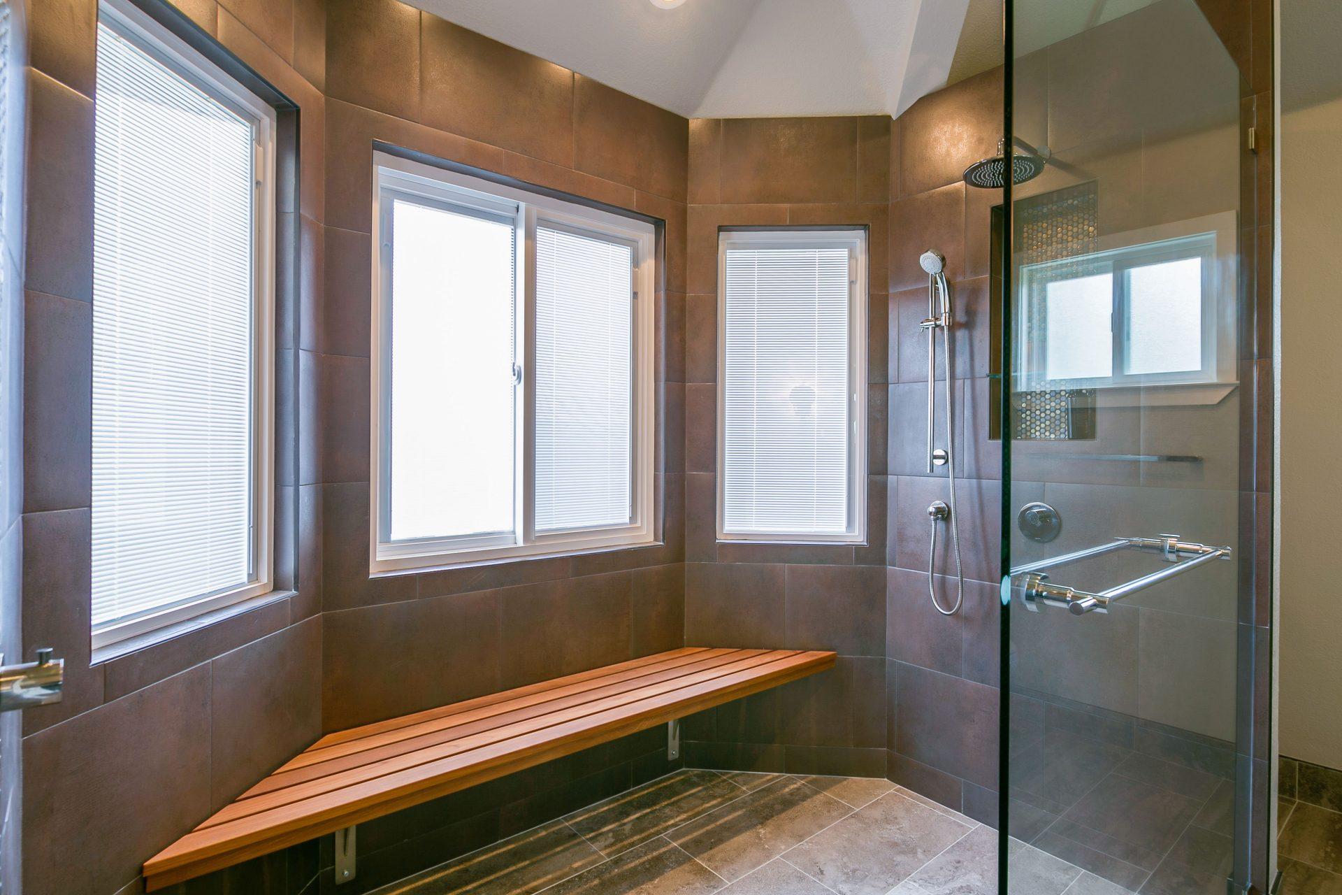 Updated shower bench