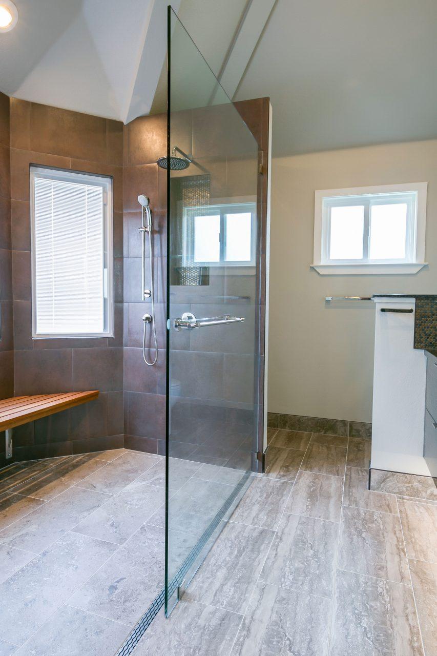 Updated shower door