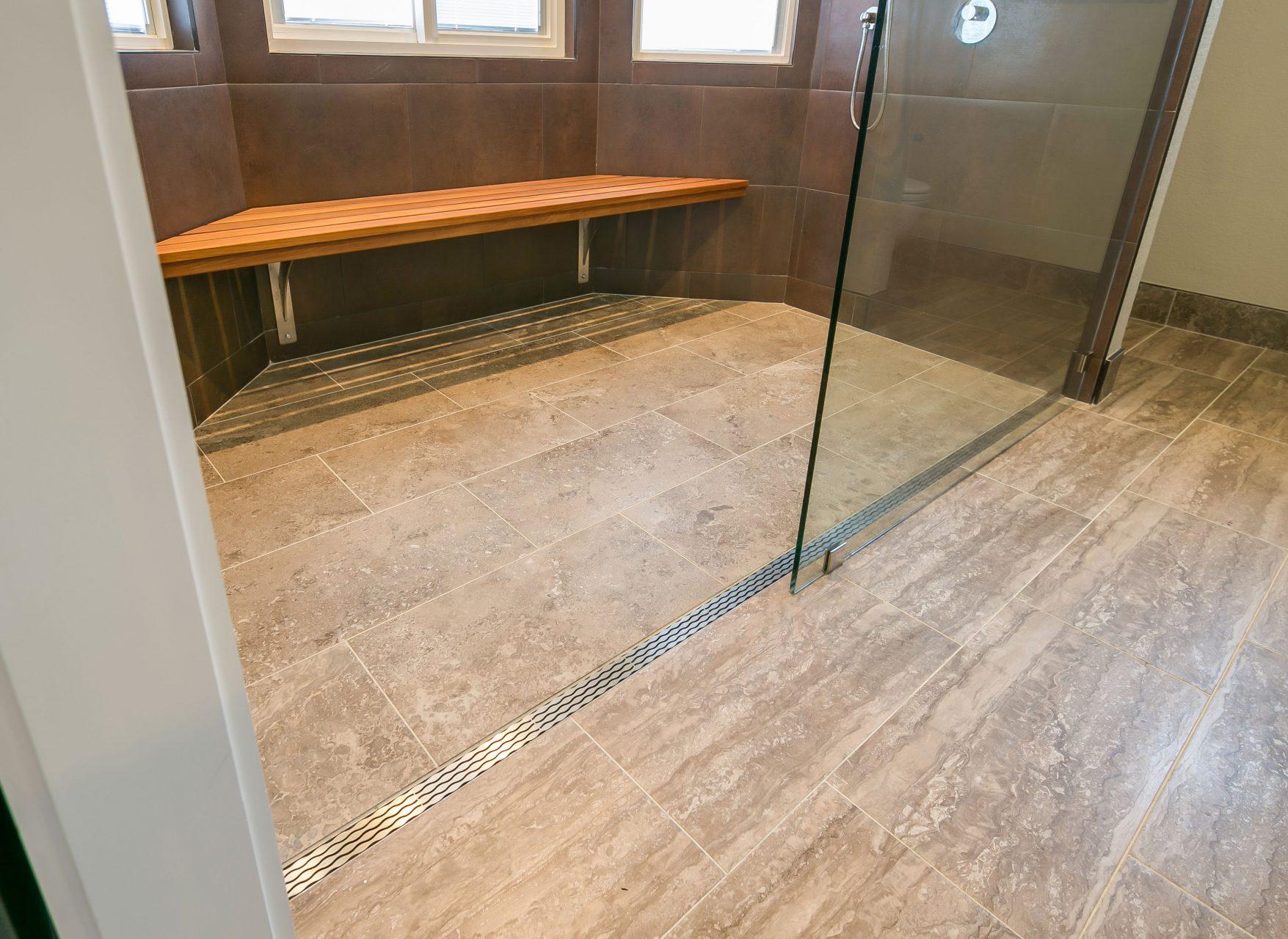 Remodeled bathroom floor
