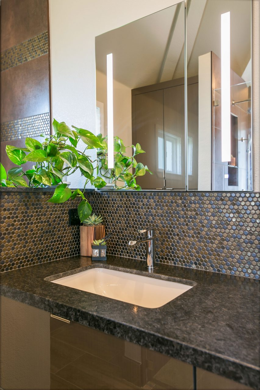 Updated bathroom sink