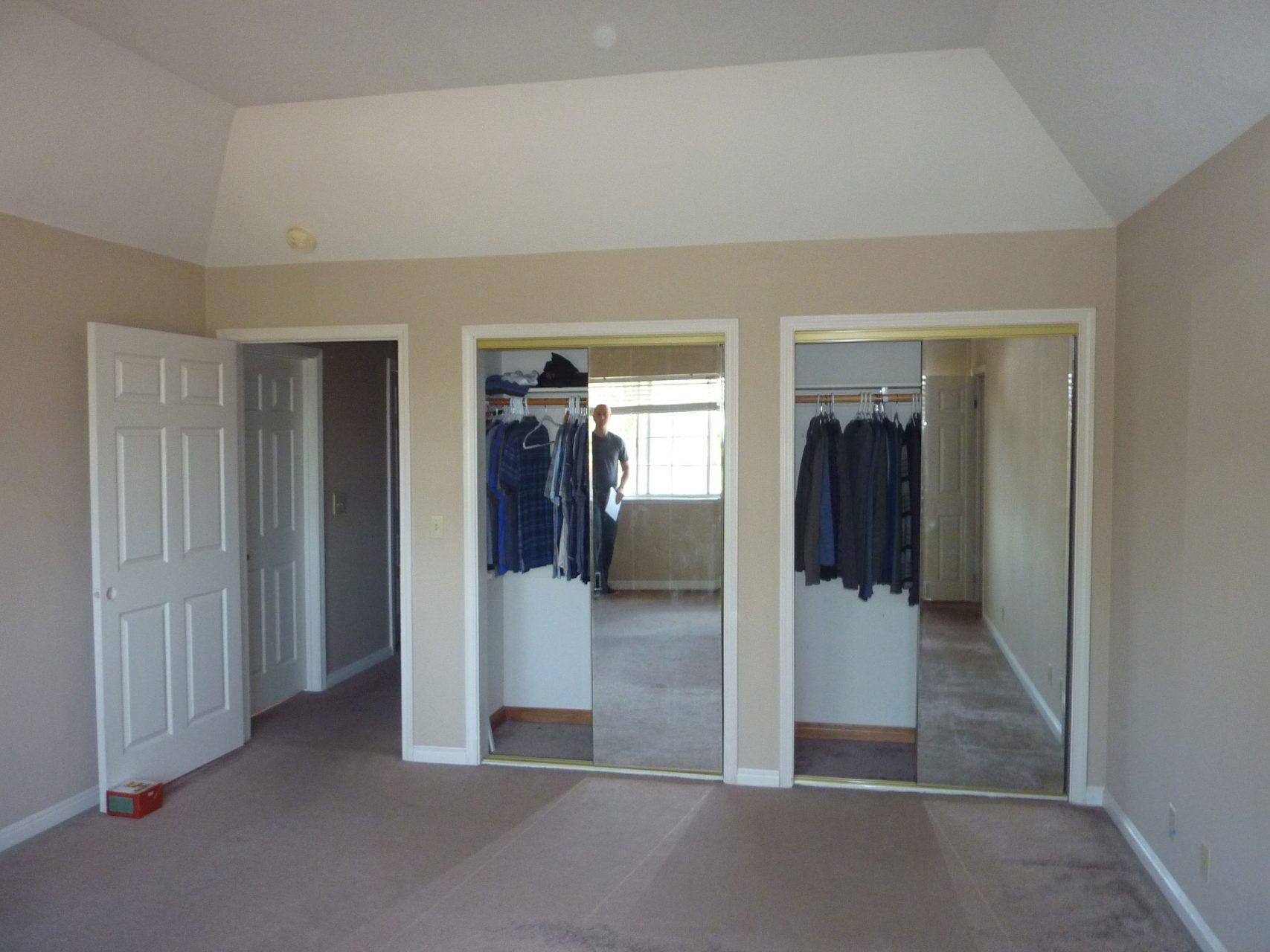 Master suite closet before update