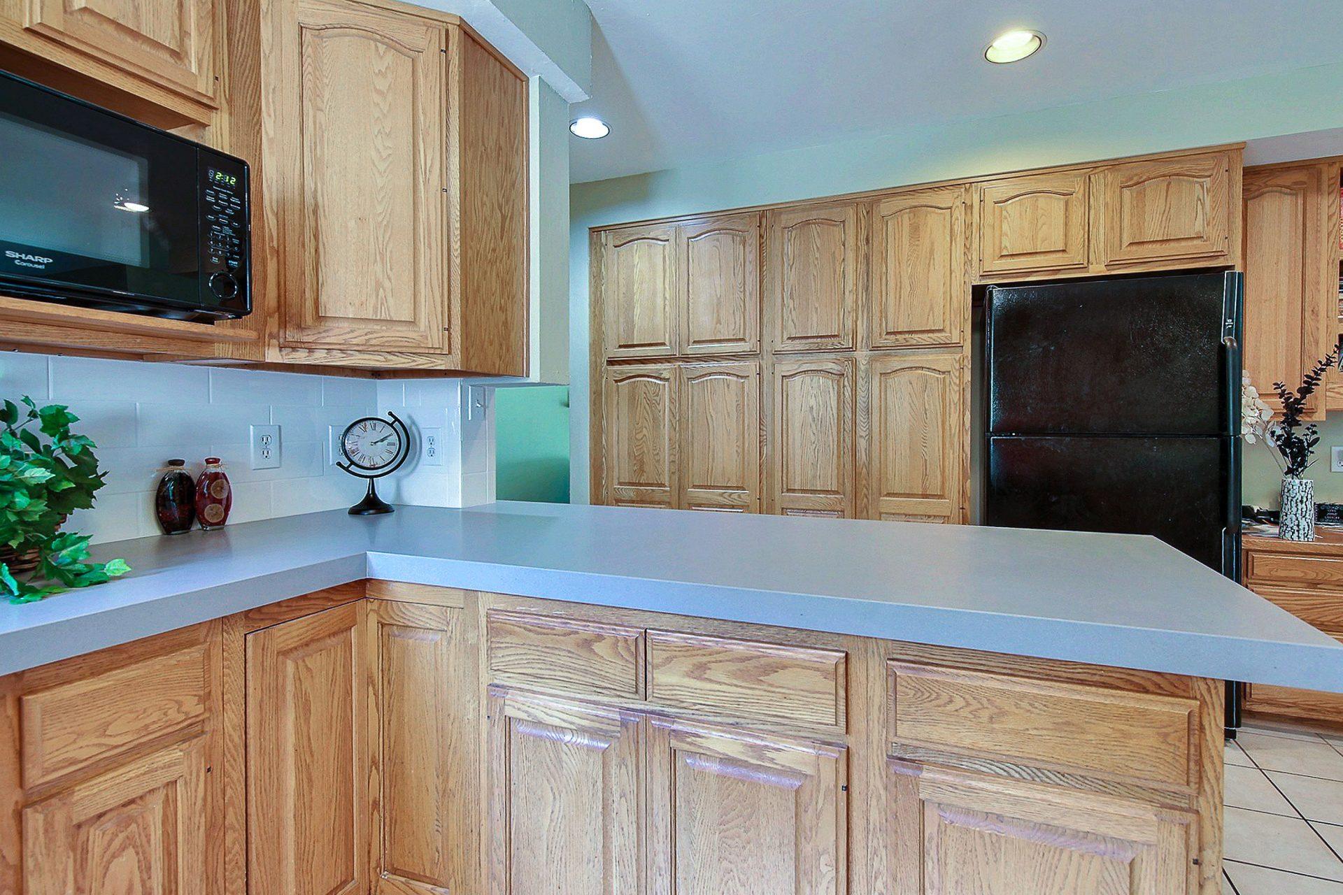 Minor kitchen update island