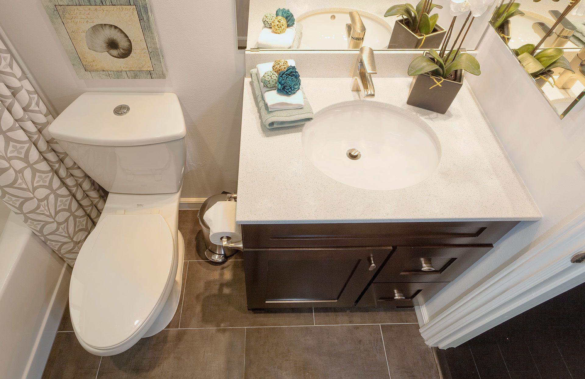 white bathroom sink