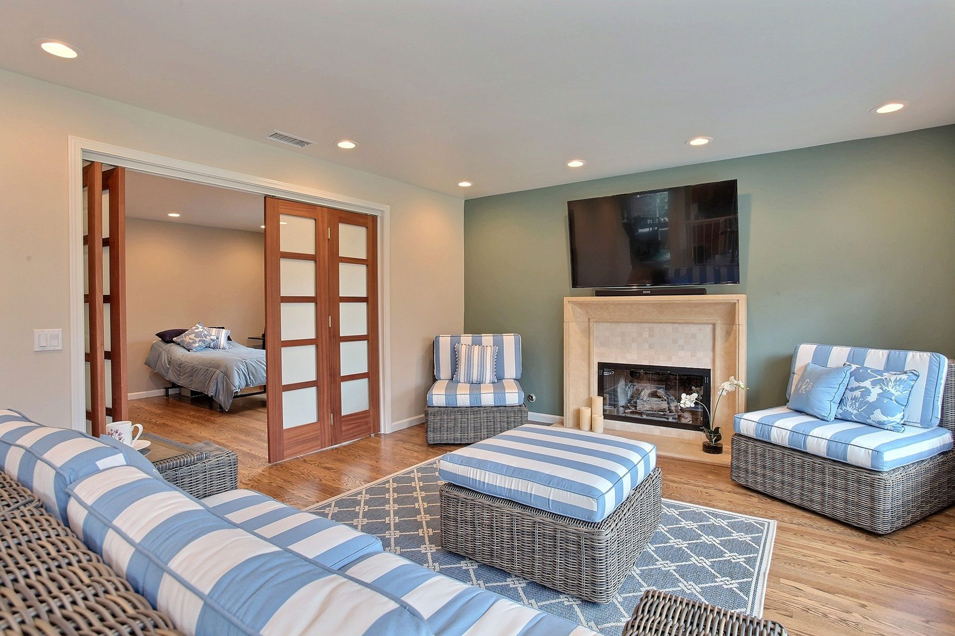 striped living room furniture