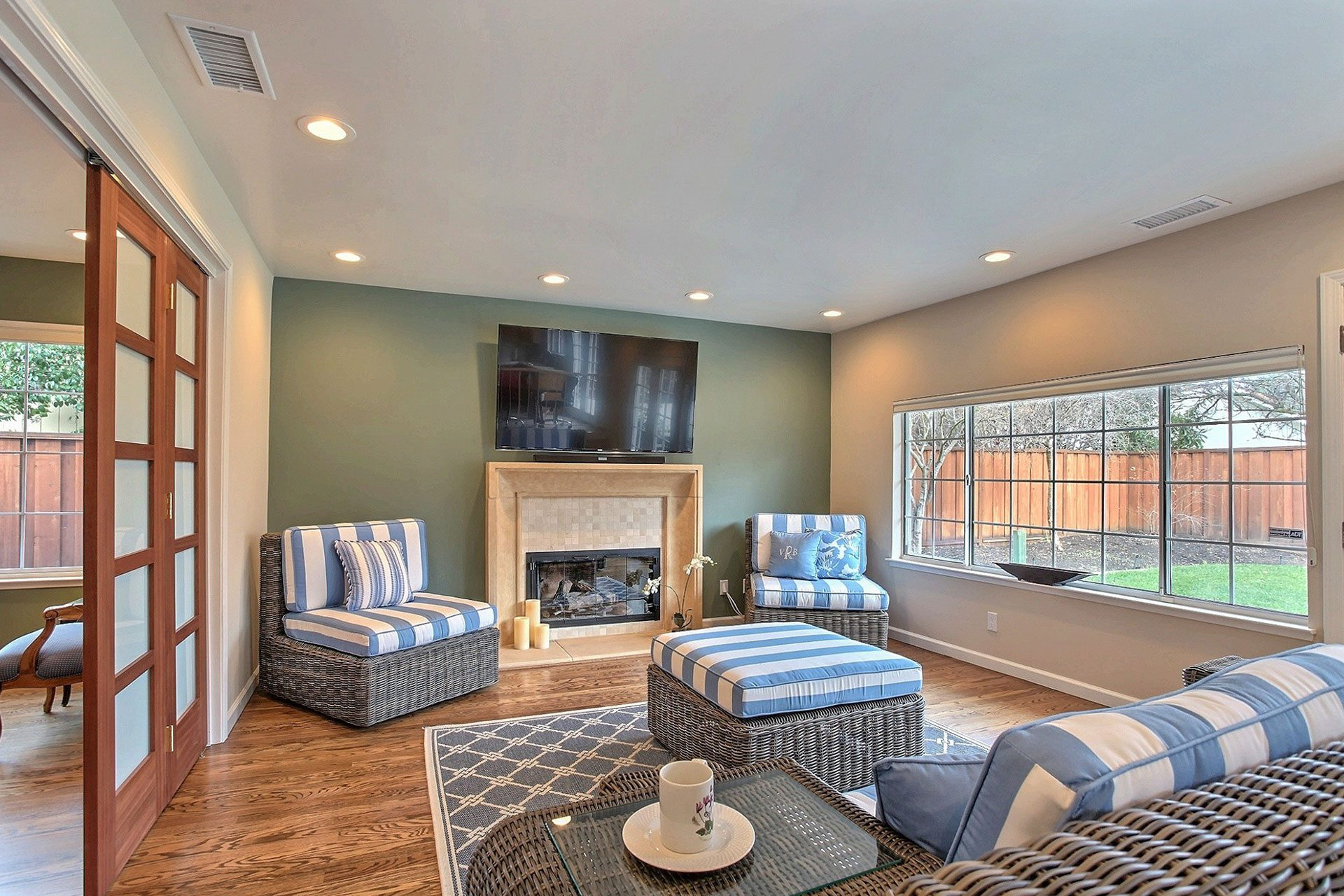 large picture window in living room