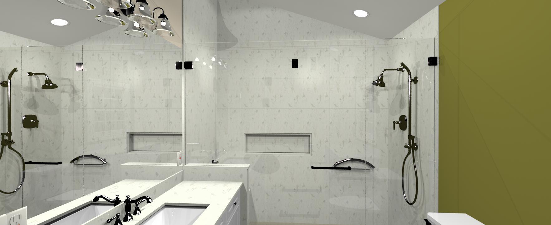3d master bath design