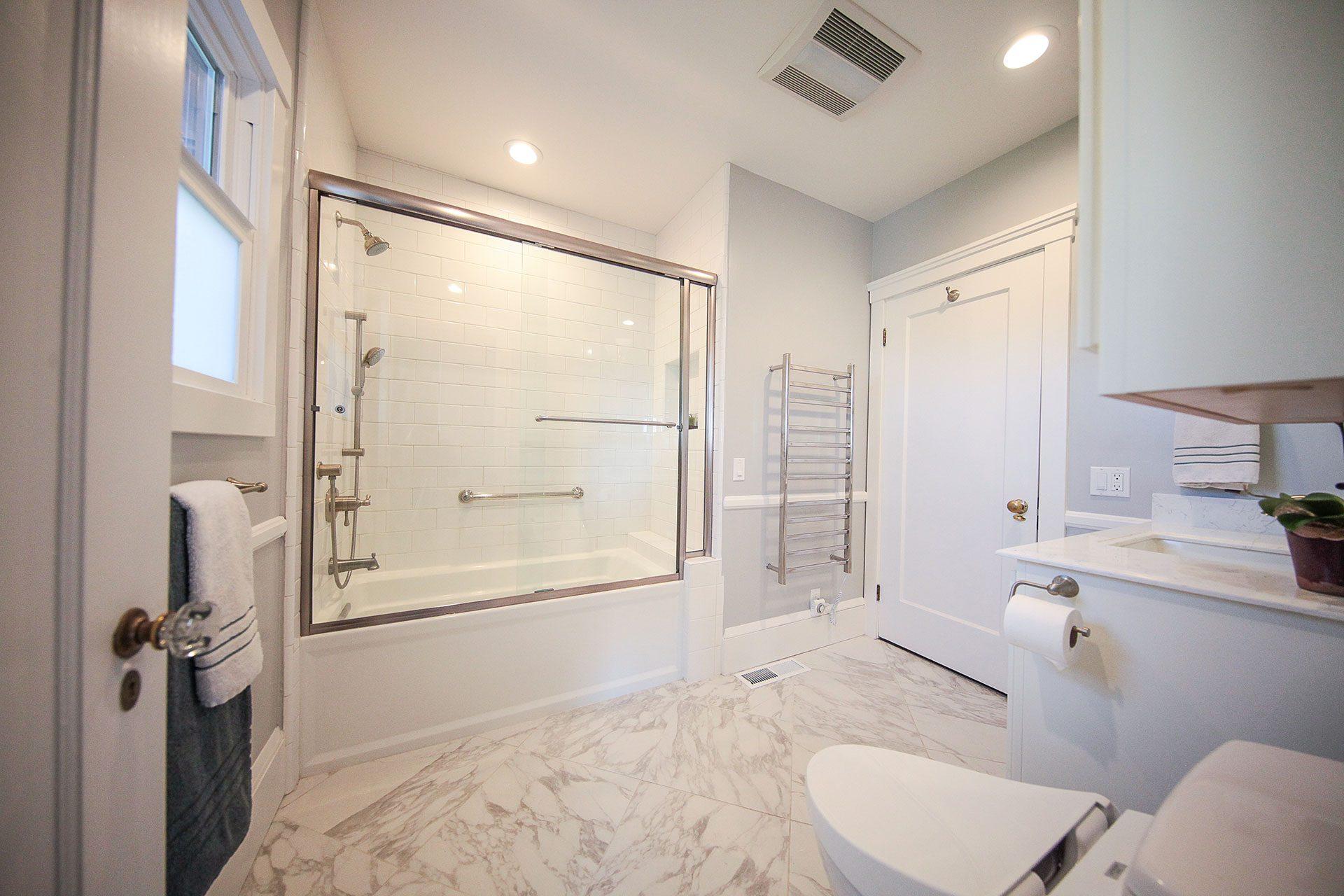 large bathroom shower