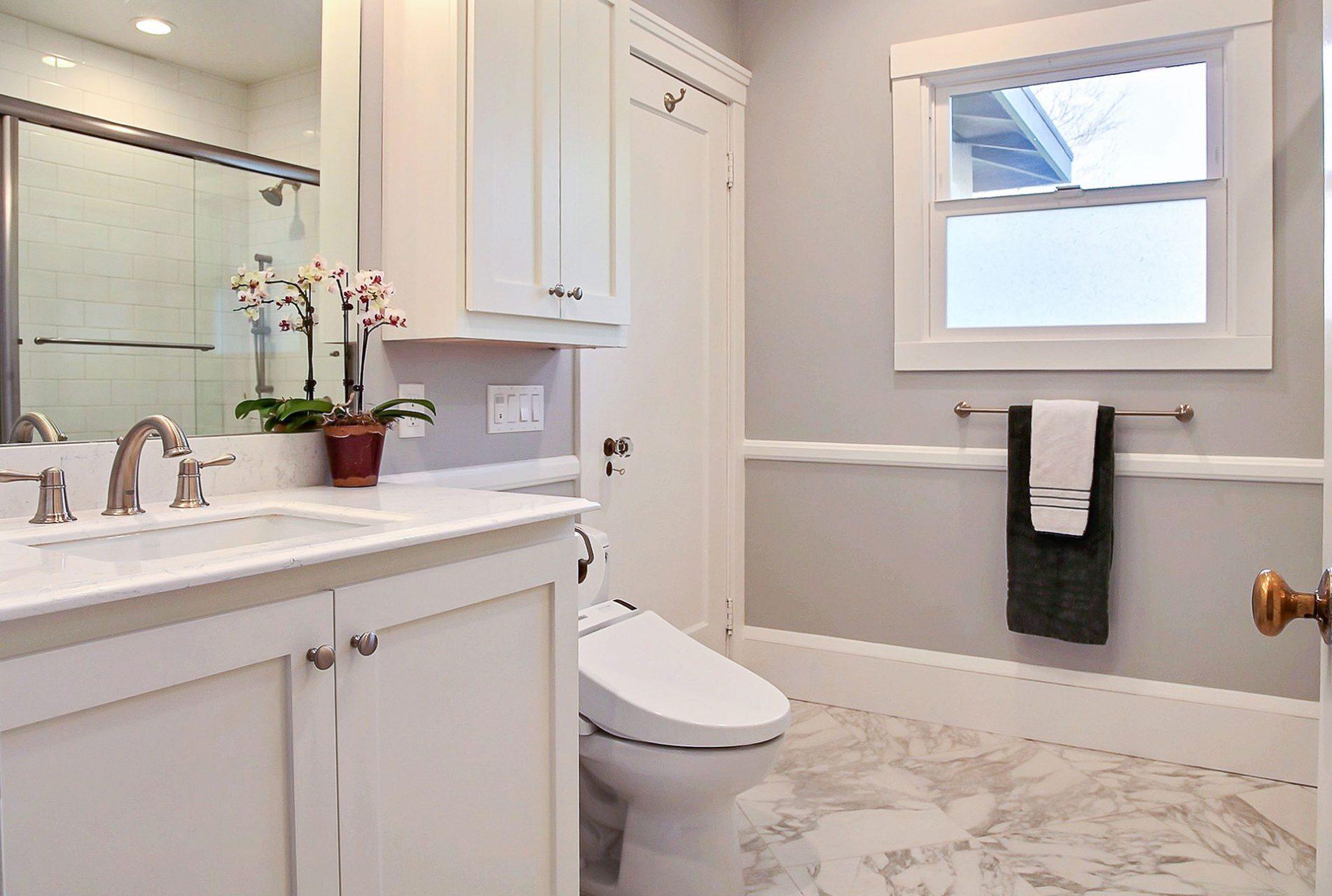 trendy bathroom remodel