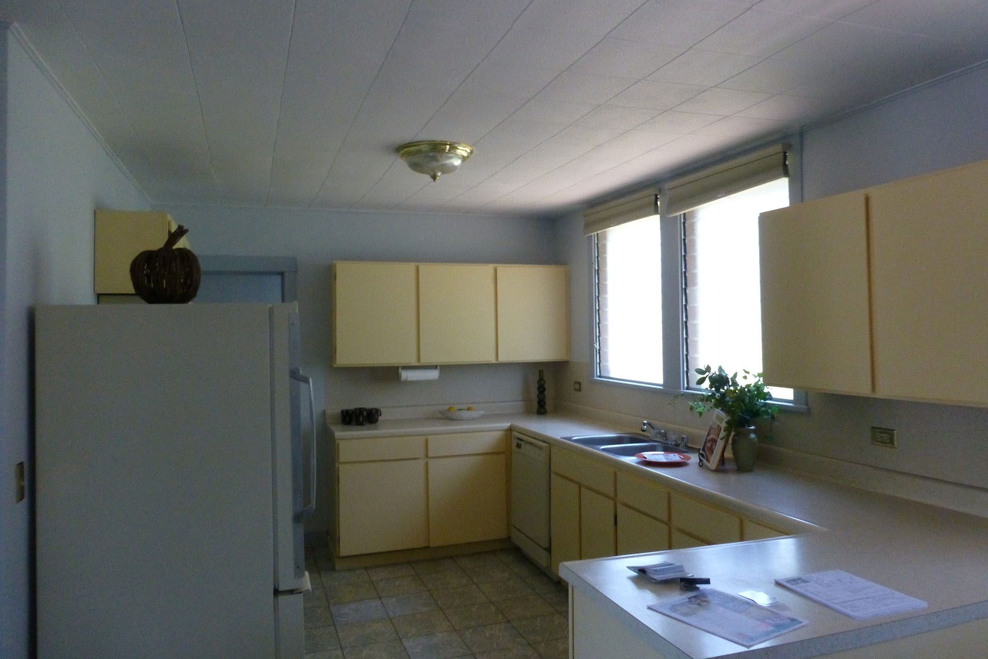 kitchen before full bungalow remodel